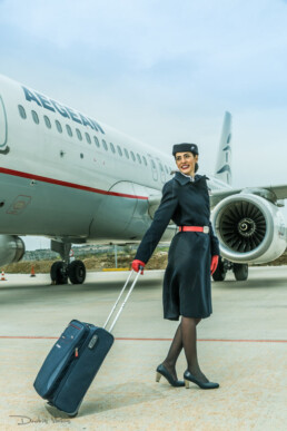 Aegean Airlines Air Hostess Cover for Taxidia Travel Magazine_Vlaikos-2